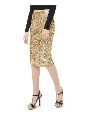 Michael Kors Collection Embroidered Pencil Skirt