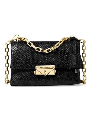 Michael Kors Collection extra-small cece chain snakeskin-embossed leather crossbody bag