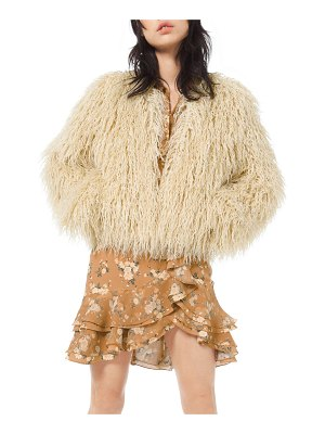 Michael Kors Collection Faux-Fur Chubby Coat
