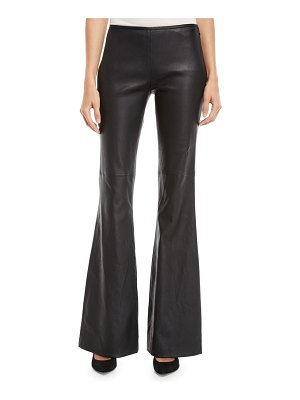 Michael Kors Collection Flared-Leg Plonge Leather Pants