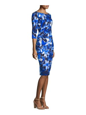 Michael Kors Collection floral boat neck dress