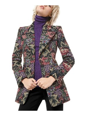 Michael Kors Collection Floral Brocade Tuxedo Blazer