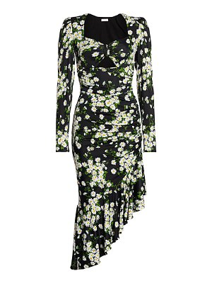 Michael Kors Collection floral ruched midi dress