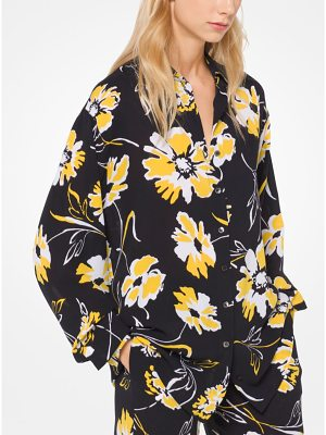 Michael Kors Collection Floral Silk-Georgette Shirt