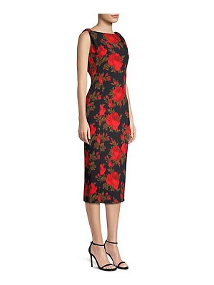 Michael Kors Collection floral stretch cady sheath dress