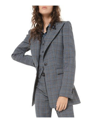 Michael Kors Collection Glen-Plaid Tuxedo Blazer