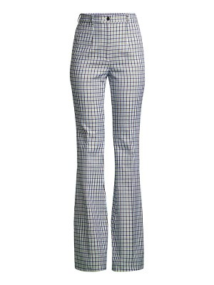 Michael Kors Collection high-waisted jacquard check flare pants