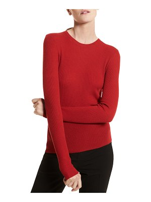 Michael Kors Collection Hutton Ribbed Crewneck Pullover