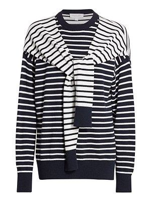 Michael Kors Collection layered striped cashmere sweater
