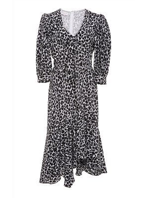 Michael Kors Collection leopard-print asymmetric silk dress