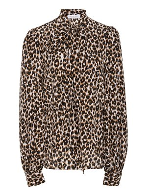 Michael Kors Collection leopard-print bow-detailed silk blouse