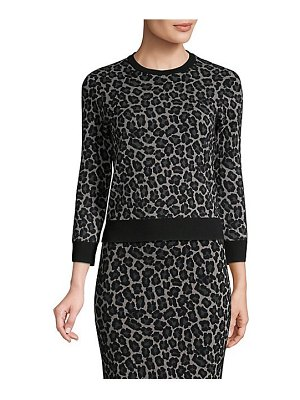 Michael Kors Collection leopard-print pullover sweater