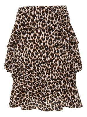 Michael Kors Collection leopard-print ruffled silk skirt