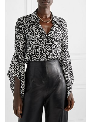Michael Kors Collection leopard-print silk crepe de chine blouse