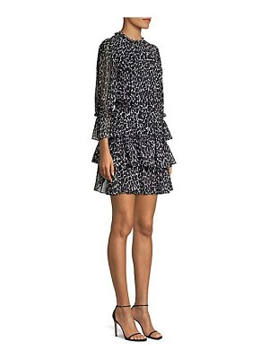 Michael Kors Collection leopard silk mini dress