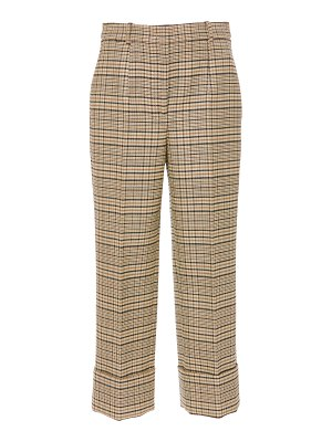 Michael Kors Collection cropped checked wool-blend pants