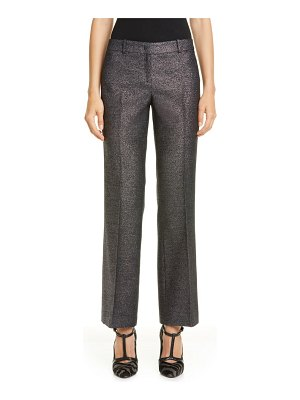 Michael Kors Collection michael kors metallic flare leg crop trousers
