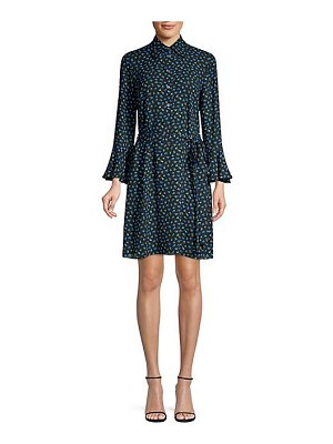 Michael Kors Collection mini rosebud bell sleeve shift dress
