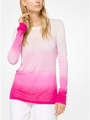 Michael Kors Collection Ombre Viscose And Linen Pullover