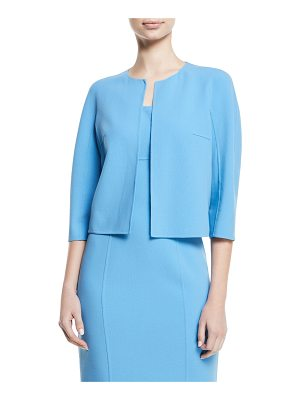 Michael Kors Collection Open-Front Stretch-Wool Crepe Cardigan Jacket