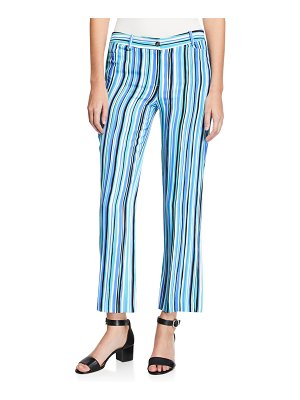 Michael Kors Collection Painterly Striped Crepe Cady Trouser Pants