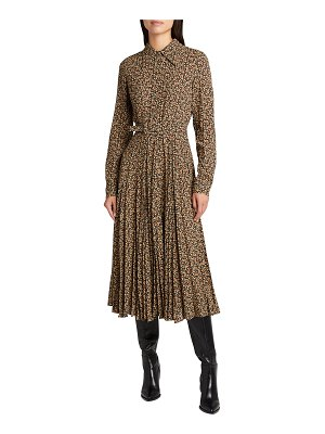 Michael Kors Collection Paisley-Print A-line Belted Shirtdress