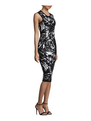 Michael Kors Collection palm jacquard sheath dress