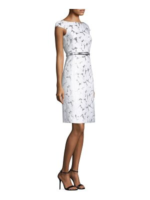 Michael Kors Collection palm leaf jacquard dress