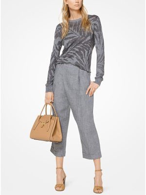 Michael Kors Collection Palm Linen Pullover