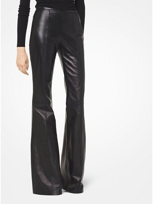 Michael Kors Collection Plonge Leather Flared Pants