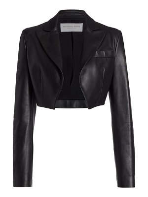 Michael Kors Collection plongé spencer leather jacket