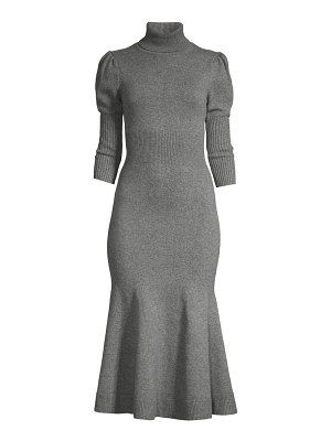 Michael Kors Collection puff sleeve cashmere sweater dress