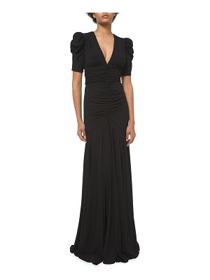 Michael Kors Collection Ruched Matte Jersey Mermaid Gown