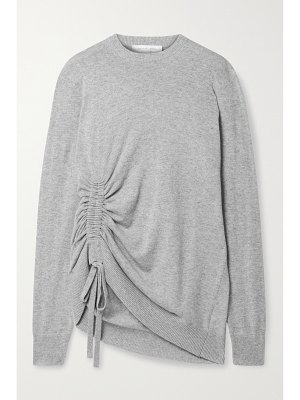 Michael Kors Collection ruched mélange cashmere sweater