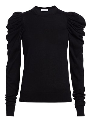 Michael Kors Collection ruched puff-sleeve cashmere, wool & silk knit sweater