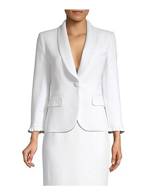 Michael Kors Collection ruffle one button jacket