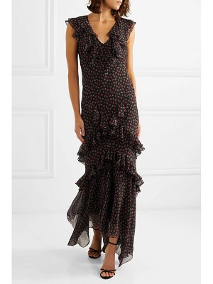 Michael Kors Collection ruffled floral-print silk-georgette gown