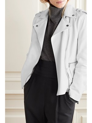 Michael Kors Collection ruffled leather biker jacket