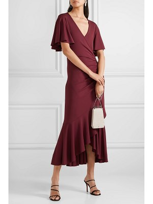 Michael Kors Collection ruffled ruched wrap-effect jersey midi dress