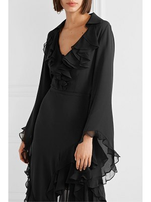 Michael Kors Collection ruffled silk-georgette blouse
