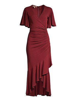 Michael Kors Collection ruffled wrap midi dress