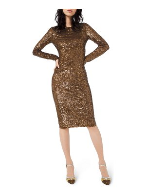 Michael Kors Collection Sequined Long-Sleeve Bodycon Dress