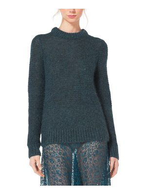 Michael Kors Collection Sequined Mohair And Silk Sweater