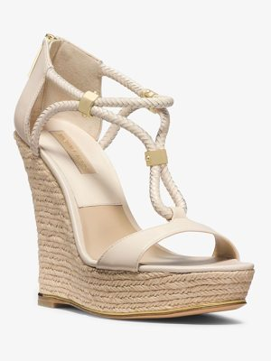 Michael Kors Collection Sherie Braided Leather Espadrille Wedge