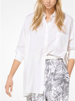 Michael Kors Collection Silk And Cotton Taffeta Shirt