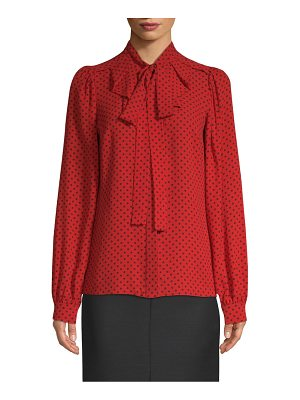 Michael Kors Collection silk polka dot blouse