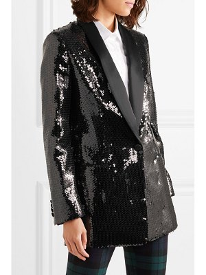Michael Kors Collection silk satin-trimmed sequined crepe tuxedo jacket
