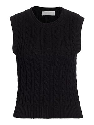 Michael Kors Collection sleeveless cashmere cable-knit sweater