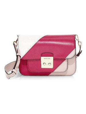 Michael Kors Collection sloan editorial colorblock leather shoulder bag