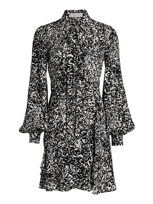 Michael Kors Collection speckled crepe de chine shirtdress